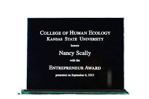 Read more about the article Kansas State University Honors Nancy E. Scally with the 2012 Entrepreneur Award