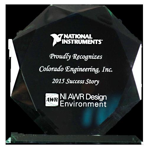 National Instruments NI AWR Design Environment Award