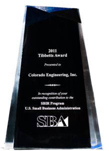 Read more about the article Colorado Engineering Receives 2011 Tibbetts Award